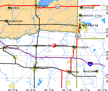 Hoyleton, IL map
