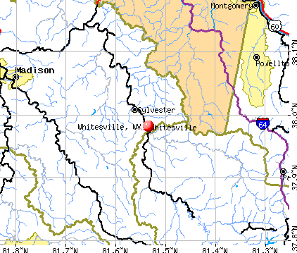 Whitesville, WV map