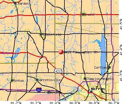 West Farmington, OH map