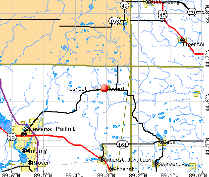 Rosholt, WI map