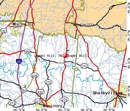 Chapel Hill, TN map