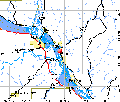 Alma, WI map