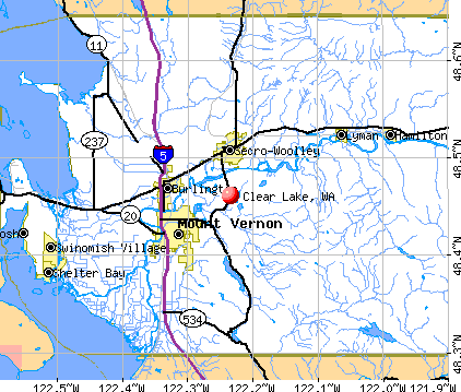 Clear Lake, WA map