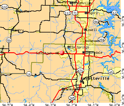Tontitown, AR map