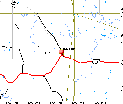 Jayton, TX map