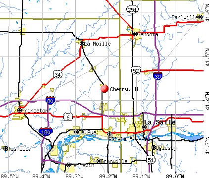 Cherry, IL map