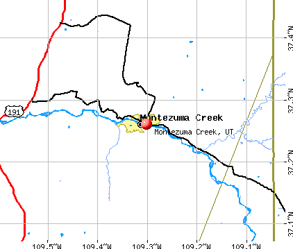 Montezuma Creek, UT map
