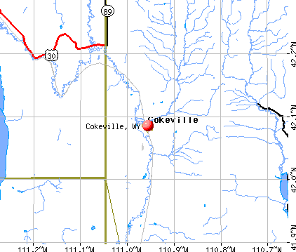 Cokeville, WY map