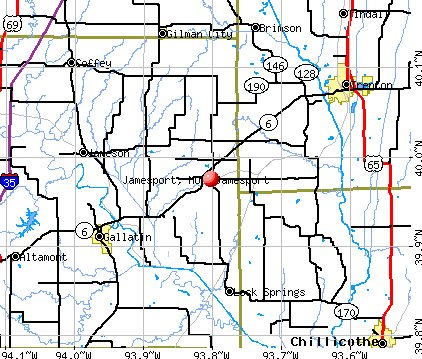 Jamesport, MO map
