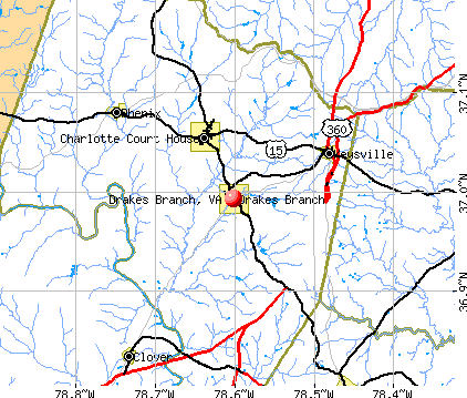 Drakes Branch, VA map