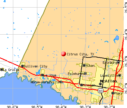 Citrus City, TX map