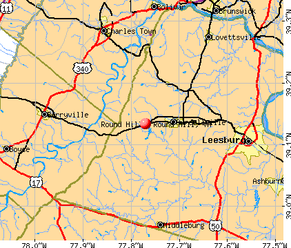 Round Hill, VA map