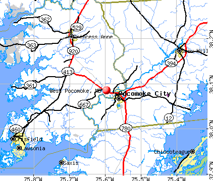 West Pocomoke, MD map