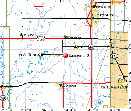 Scammon, KS map