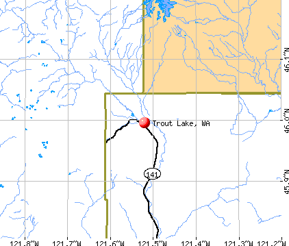 Trout Lake, WA map