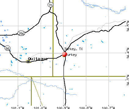 Turkey, TX map