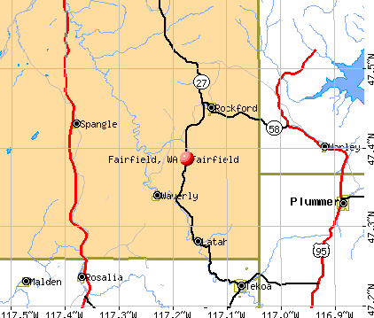 Fairfield, WA map