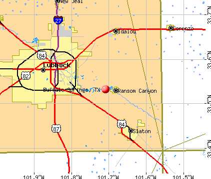 Buffalo Springs, TX map