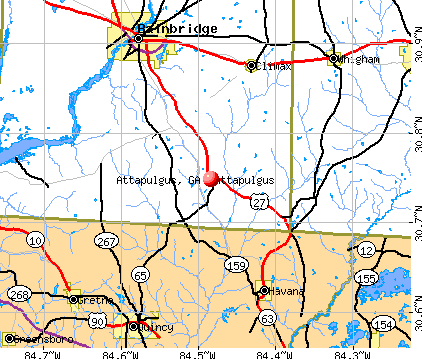 Attapulgus, GA map