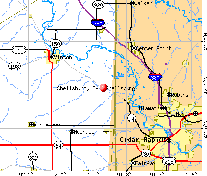Shellsburg, IA map
