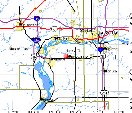 Mark, IL map