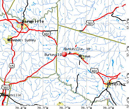 Burkeville, VA map