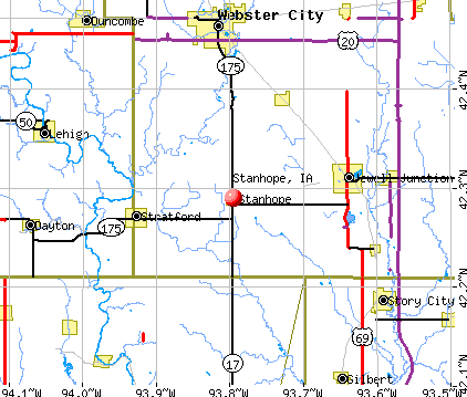 Stanhope, IA map