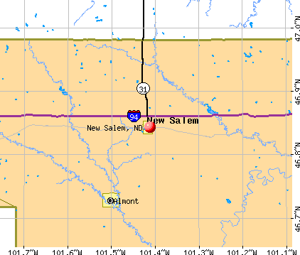 New Salem, ND map