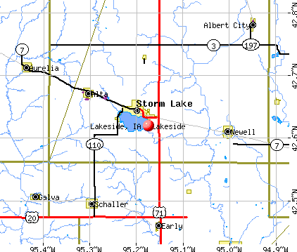 Lakeside, IA map