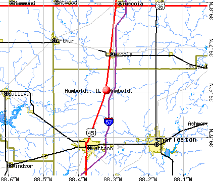Humboldt, IL map