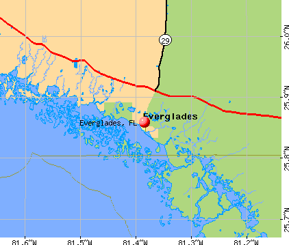 Everglades, FL map