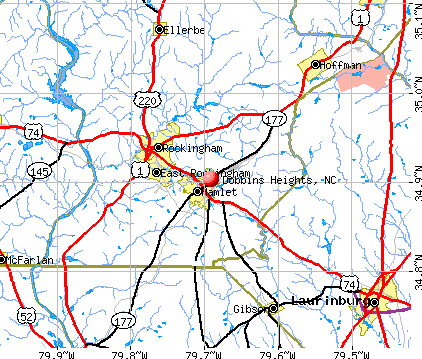 Dobbins Heights, NC map