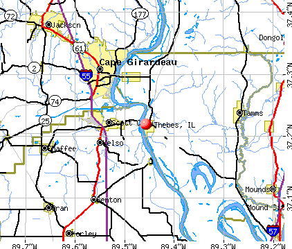 Thebes, IL map