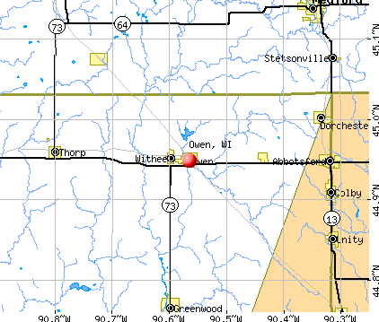 Owen, WI map