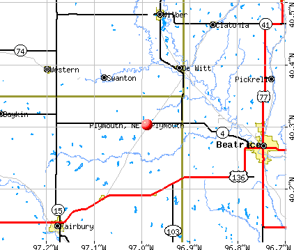Plymouth, NE map