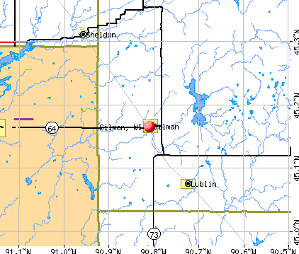 Gilman, WI map