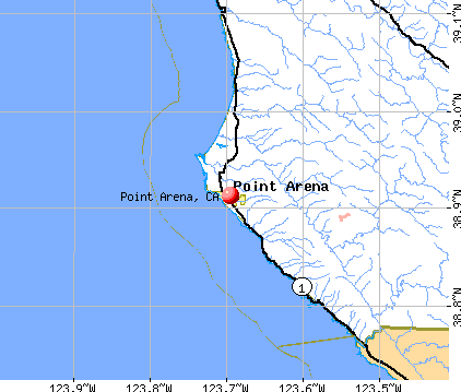 Point Arena, CA map