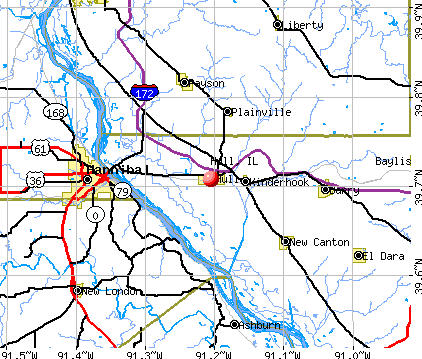 Hull, IL map