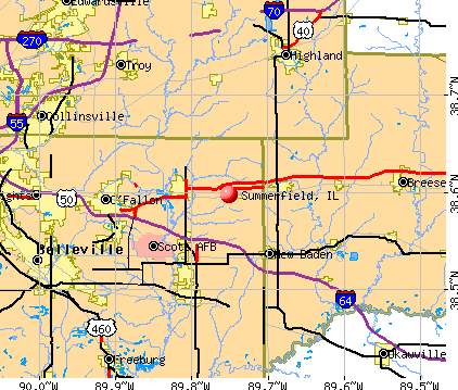 Summerfield, IL map