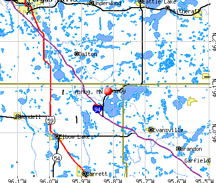 Ashby, MN map
