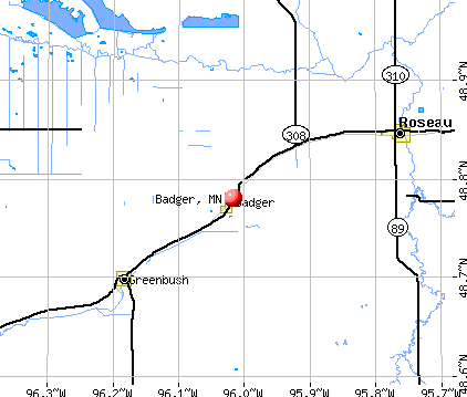 Badger, MN map