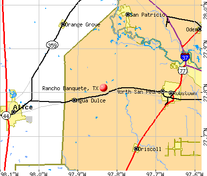 Rancho Banquete, TX map