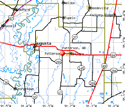 Patterson, AR map