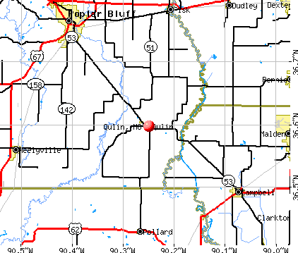 Qulin, MO map