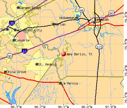 New Berlin, TX map
