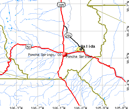 Poncha Springs, CO map
