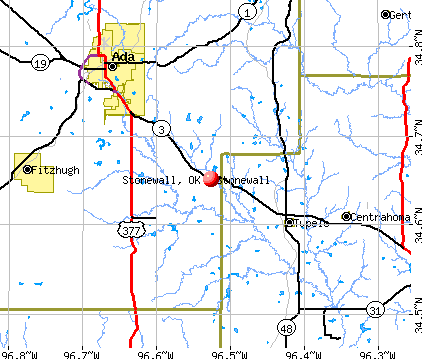 Stonewall, OK map