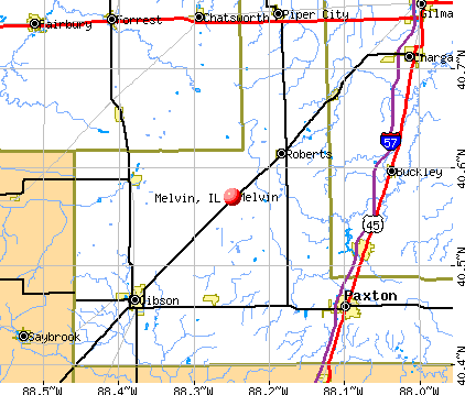 Melvin, IL map