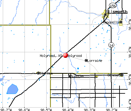 Holyrood, KS map