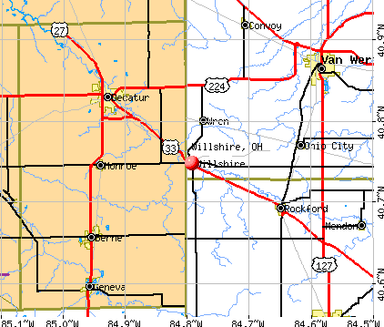 Willshire, OH map